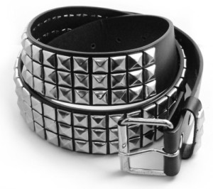 Classic Pyramid Studded Leather Belt: $10