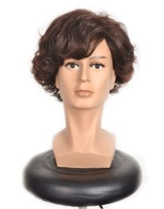 Short Curly Brown Cosplay Wig