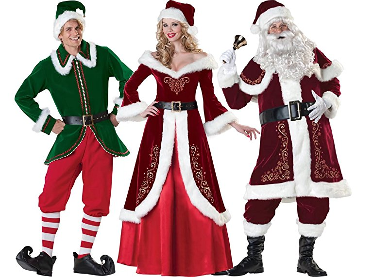 Look as attractive as you are in ugly christmas suits find your future we also love to share the blessing of christmas in jumpsuits shop via amazon dark santa costume christmas elf costume and womens santa suit solutioingenieria Gallery